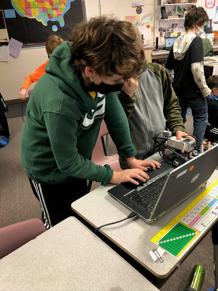 Students Coding Robot