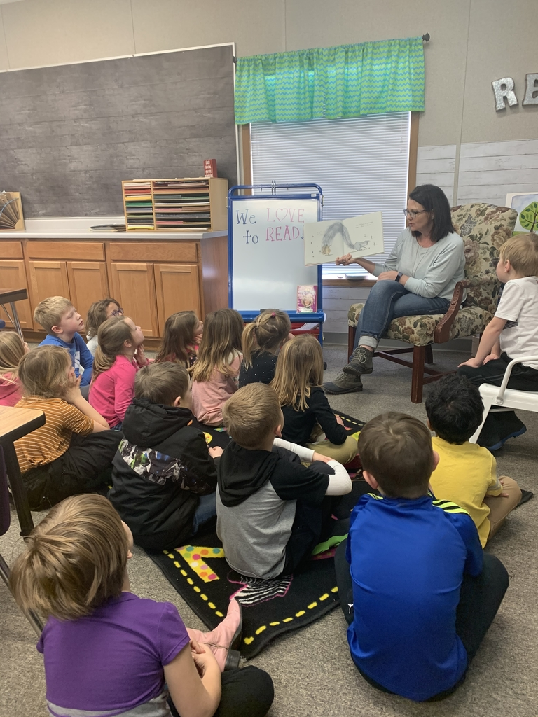 Mrs. Brown reads to kindergarten
