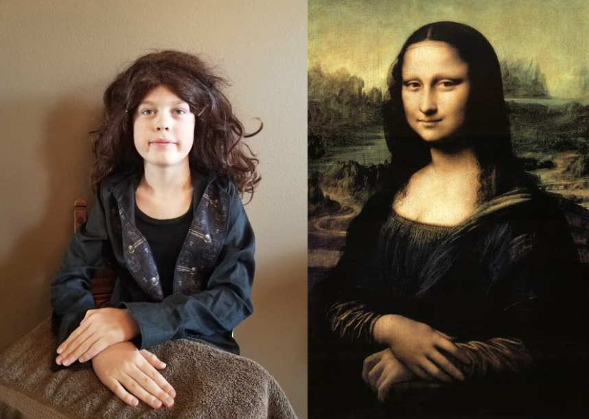 4th  Grade Graham M. recreated Da Vinci's Mona Lisa
